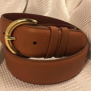 NWOT Coach glove leather/solid brass buckle belt